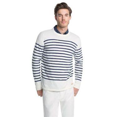 Edler Streifen Pullover für Ihn