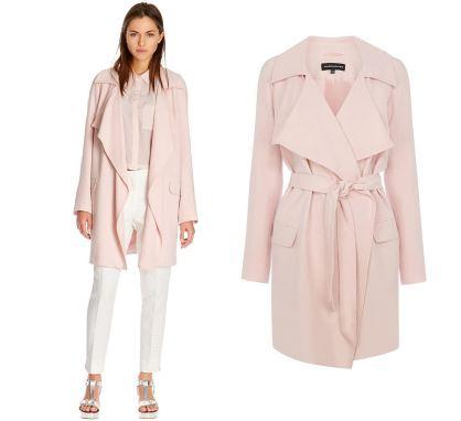 Modischer Trenchcoat in Pink reduziert