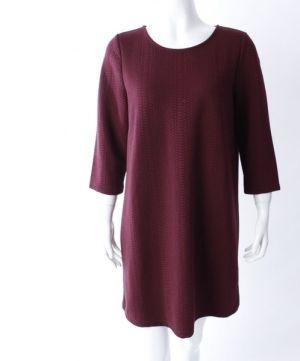 pulloverkleid in marsalla